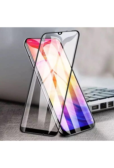 Tekno Grup Samsung Galaxy A01 Kılıf Darbe Emici Süper Silikon Kılıf Şeffaf + Tam Kaplayan 5D Cam Ekran Koruyucu