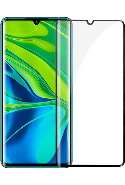 Tekno Grup Xiaomi Mi Note 10 Tam Kaplayan Kenarı 5D Cam Ekran Koruyucu
