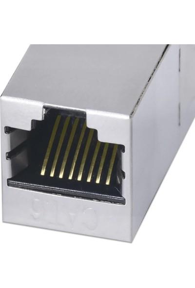 Alfais 4380 Cat6 Jack Internet Kablo Birleştirici RJ45 Metal Dişi Dişi Ekleme Aparatı