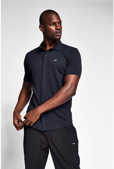 Lescon 20S-1207-20B Siyah Erkek Outdoor Kısa Kollu Gömlek