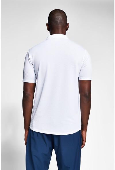 Lescon 20S-1207-20B Beyaz Erkek Outdoor Kısa Kollu Gömlek
