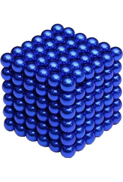 Sezy 216 Parça 5mm Lacivert Neocube Sihirli Toplar Tek Renkli Manyetik Neodyum