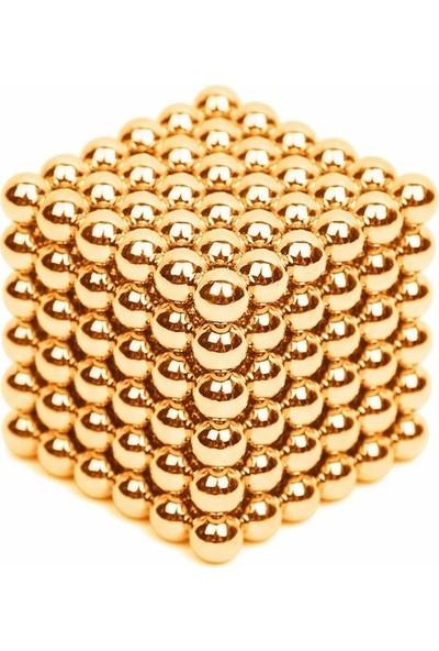 Sezy 216 Parça 5mm Gold Neocube Sihirli Toplar Tek Renkli Manyetik Neodyum