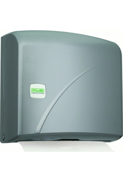 Vialli K2M Z Katlı Kağıt Havlu Dispenseri Gri Max 200 Ad 22 cm