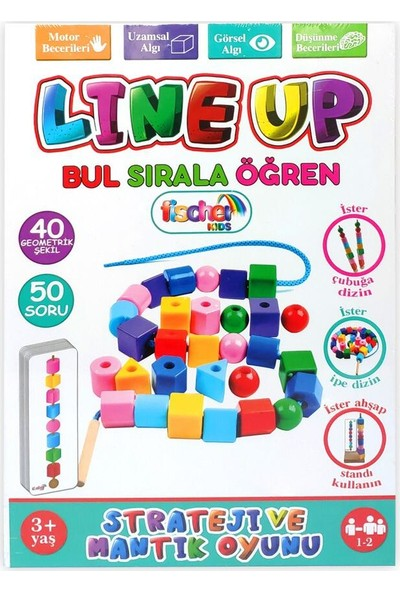 Mofy Baby Line Up Bul Sırala Öğren 40 Geometrik Şekil 50 Soru Eğitici Oyun