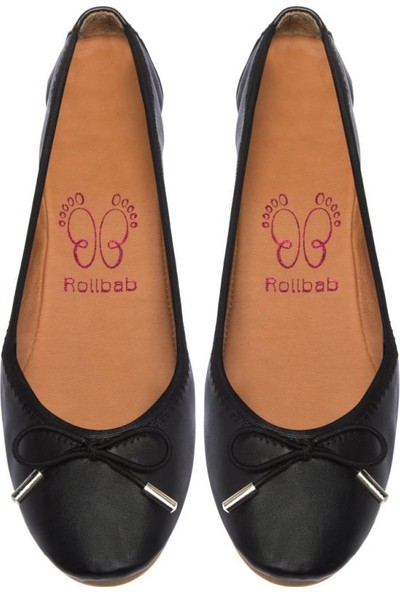 Rollbab Darky Jolly Kadın Siyah Babet 40