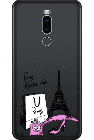 Kılıf Merkezi Meizu Note 8 Kılıf Baskılı Silikon Paris Fashion STK:327