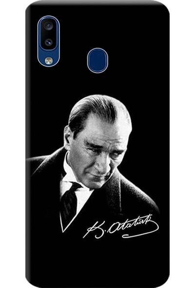 Kılıf Merkezi Samsung Galaxy A20 - A30 Kılıf Baskılı Silikon Mustafa Kemal Atatürk STK:390