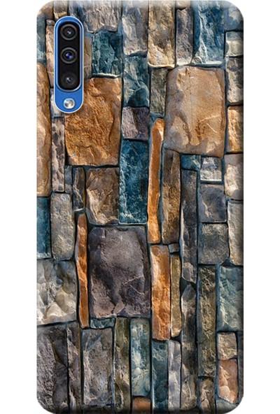 Kılıf Merkezi Samsung Galaxy A30s - A50 Kılıf Baskılı Silikon Taş Duvar STK:233