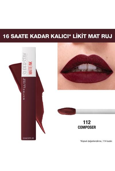 Maybelline New York Super Stay Matte Ink Likit Mat Ruj - 112 Composer - Mürdüm/Bordo
