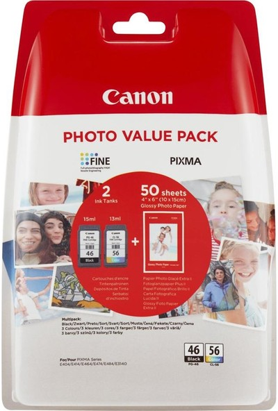 Ppt Premium Canon Pixma E414 2Li Kartuş Paket Kağıt Hediye