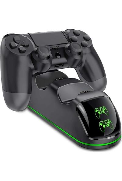 Sezy PS4 Şarj Istasyonu Çift Kol Slim/pro Şarj Göstergeli