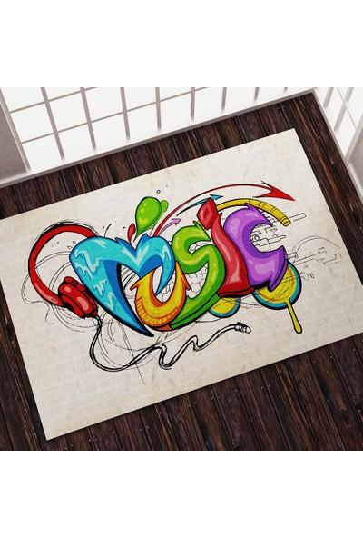 Ayze Home - Genç Odası - Music Baskılı Halı