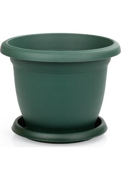 Serinova Villa Saksı 5 lt Yeşil 3'lü Takım