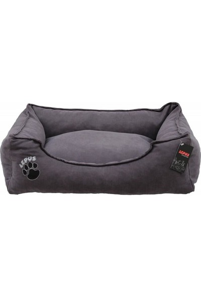 Lepus Soft Fermuarlı Köpek Yatağı Gri L 24 x 75 x 60 cm