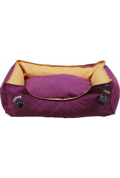Lepus Soft Plus Köpek Yatağı Mor M 22 x 60 x 44 cm