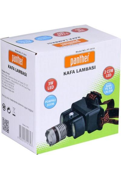 Panther PT-5910 Pompalı Zoom Ledli Kafa Lambası 3W