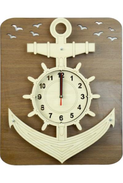 Time Gold 1453 No : 2 Duvar Saati Gemi Çapası