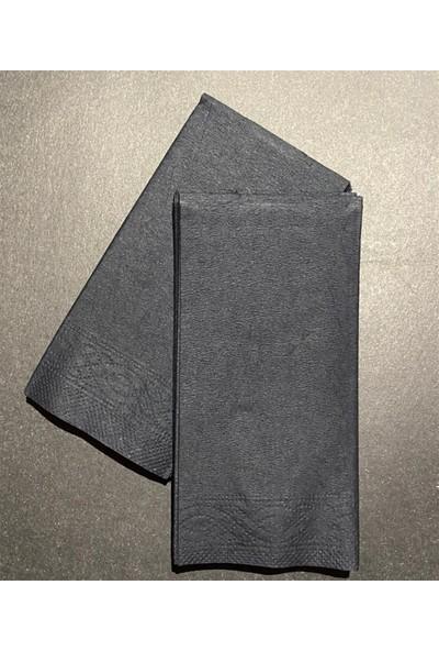 Soft Kağıt Siyah Peçete 25 x 33 1/6 2 Kat Baskısız Siyah 3000'li Koli