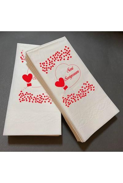 Soft Kağıt Sevgililer Günü Özel Peçete 15'li Paket