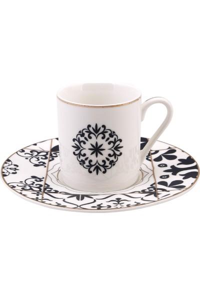 Emsan Yonca 6 Kişilik Kahve Fincan Seti