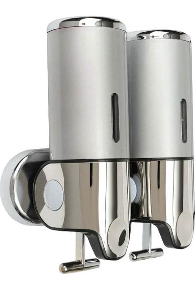 Arı Metal Sıvı Sabunluk ve Losyon Verici Çiftli 500 ml Krom Arı Metal 2212