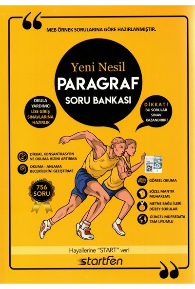 Startfen Yayınları Lgs 8. Sınıf Yeni Nesil Paragraf Soru Bankası