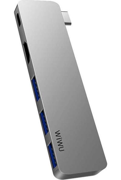 Wiwu T6 Pro Type-C Hub Çoğaltıcı Adaptör