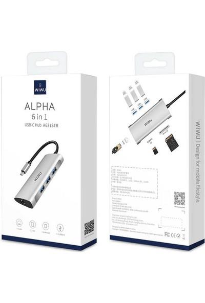 Wiwu Alpha A631STR Type-C Hub Çoklayıcı