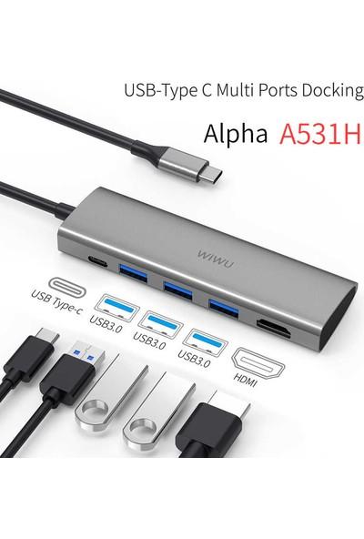 Wiwu Alpha A531H Type-C Hub Çoklayıcı Adaptör