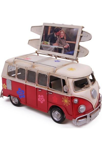 MNK Dekoratif Metal Minibüs Çerçeveli ve Kumbaralı