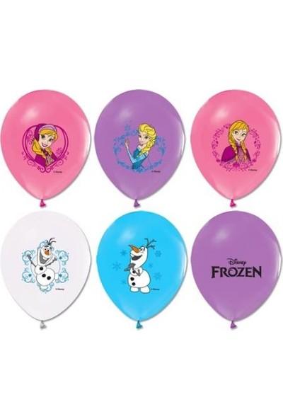 Balonevi Frozen Baskılı Balon 12 Inch 10 Adet