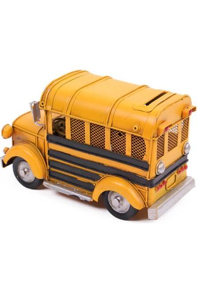 MNK Dekoratif Metal Araba Okul Otobüsü