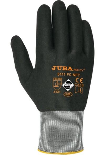 Juba 5111 Fc Nft Dikişsiz Naylon + Spandex Astar Üzerine Mikro Gözenekli Köpük Nitril Nft Kaplı Eldiven 10 - XL