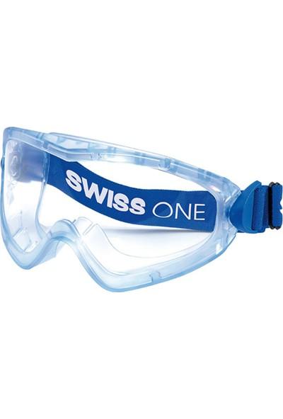 Swiss One Profile İş Gözlüğü Şeffaf Lens Asetat Cam Havalandırmalı