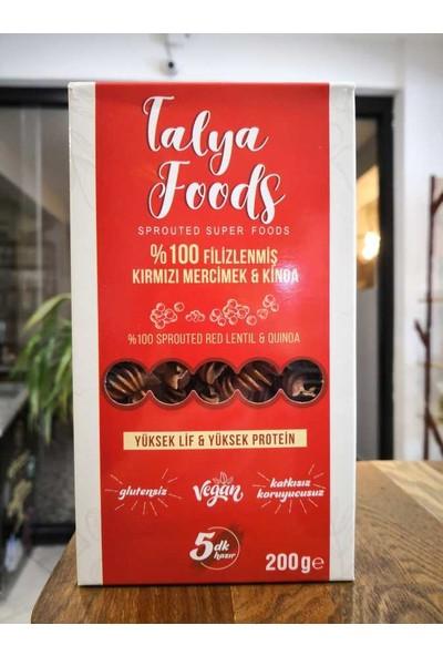 Talya Foods Glutensiz Filizlenmiş Kırmızı Mercimek ve Kinoa Makarnası 200 gr