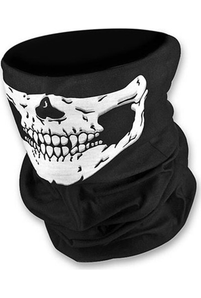 Obamoto Motosiklet Kafatası Desenli Maske Bandana Balaklava Buff