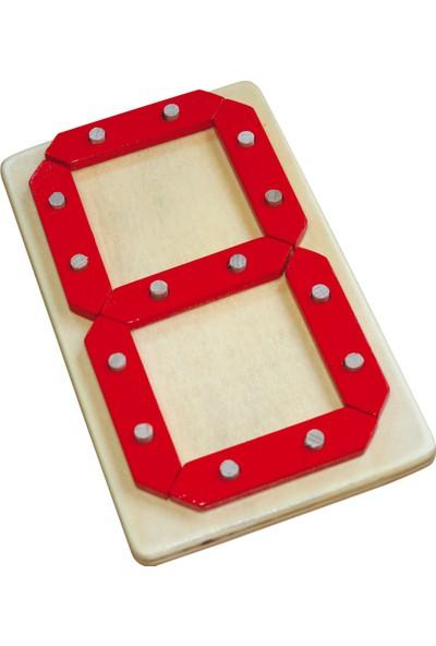 Kalpe Ahşep Eğitici Oyuncak Rakamlar Çocuk Kutu Oyun