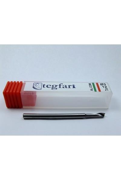Tegfari 3X12mm Cnc Karbür Tungsten Freze Ucu- Alüminyum Kompozit