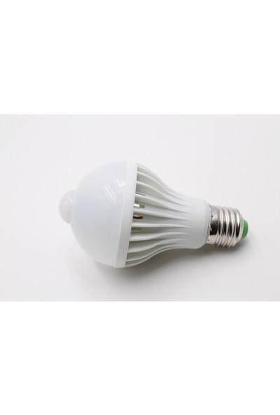 Sunika Hareket Sensörlü E27 LED Ampul 9 W Beyaz