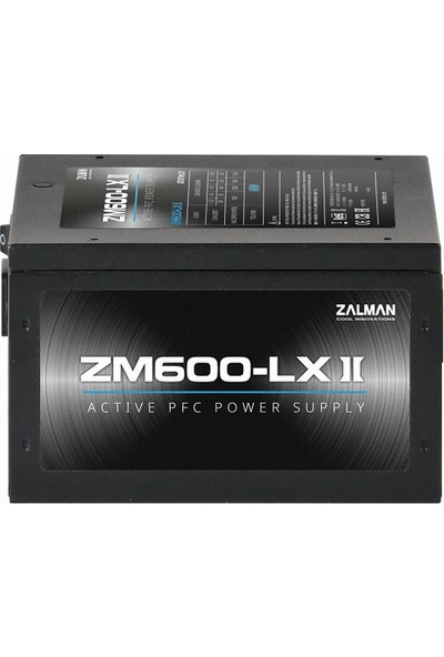Zalman ZM600-LXII 600W Active 120 mm Fanlı Güç Kaynağı