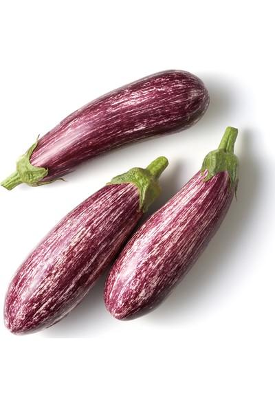 Fide Sepeti Kır Çizgili Patlıcan Tohumu 1 Paket 25 gr