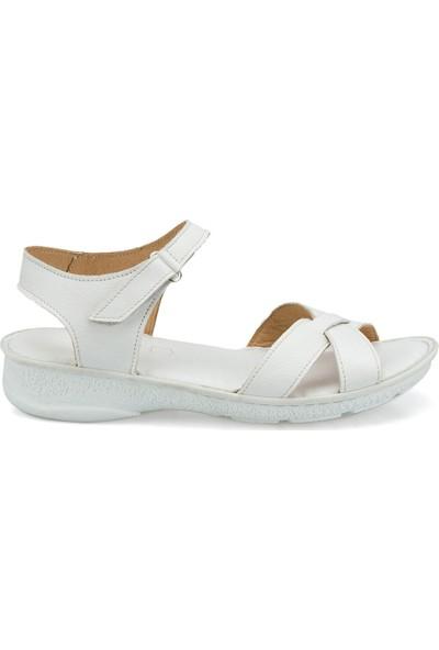 Polaris 103089.Z Beyaz Kadın Sandalet