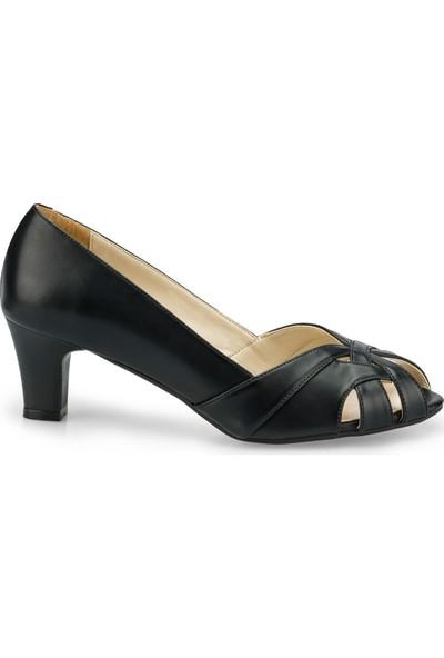 Polaris 315191.Z Siyah Kadın Gova Ayakkabı