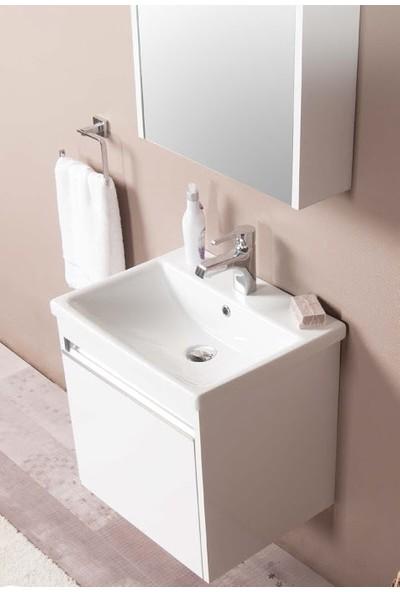 Li̇vea Rem Beyaz 41 x 52 cm Asma Banyo Dolabı Mdf Lam