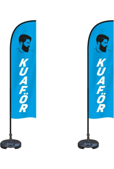 ReklamEdiyoruz Erkek Kuaför Reklam Bayrak Paketi