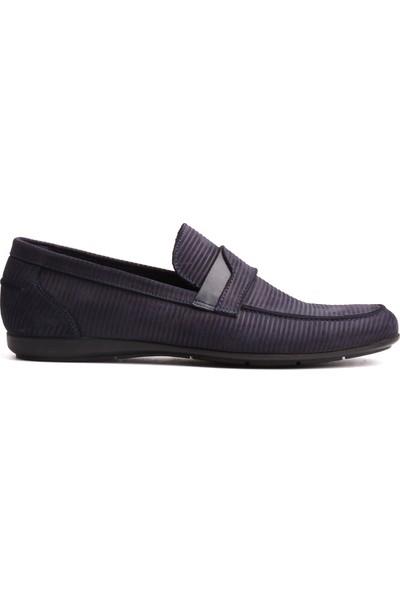 Derinet Klasik Lacivert Nubuk Deri Erkek Ayakkabı
