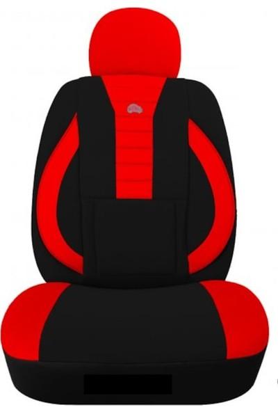KGS Fiat Doblo 2 Oto Koltuk Kılıfı Sport Kırmızı - Siyah