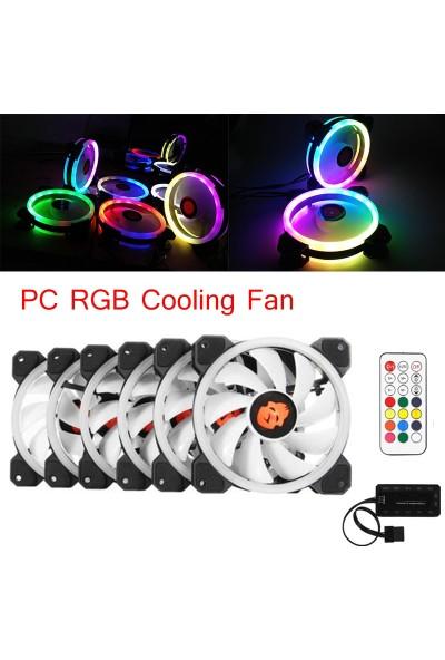 Nivatech RGB Fan 6 Adet + Kontrol Ünitesi + Uzaktan Kumanda Seti