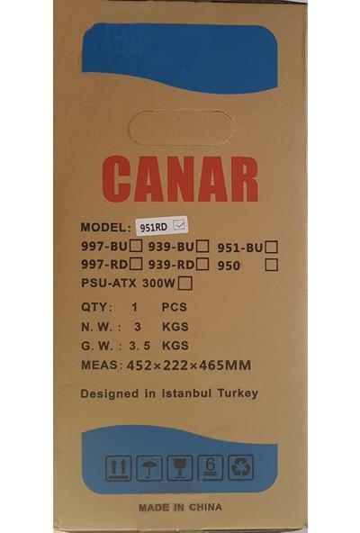 Canar 951-BLUE ATX Bilgisayar Kasası (Psu Yok)